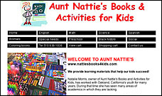 Nattie's Books website design, web site design, web designer