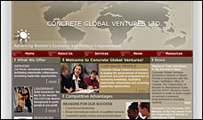 Concrete Global Ventures website design, web site design, web designer
